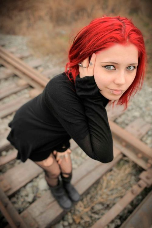 Time emo teen redhead punk